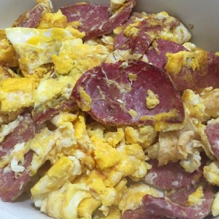Salami and Eggs recipe