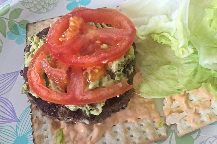 Hot Matzah Burger
