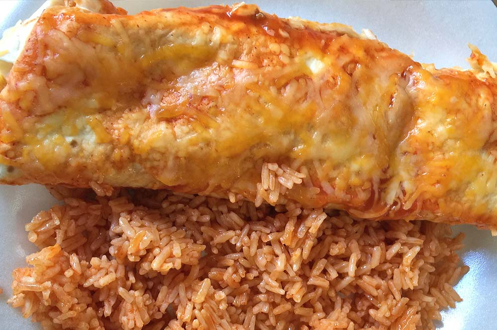 Beef Enchiladas with Spanish Rice Recipe