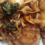 Scallops Pasta Egg Noodles recipe