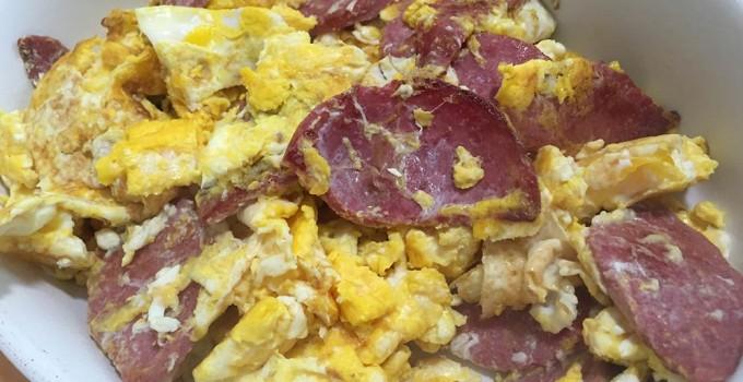 Salami and Eggs recipe