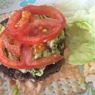 Hot Matzah Burger recipe