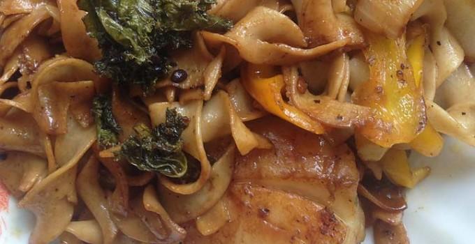 Scallops Pasta Egg Noodles recipe